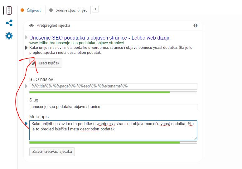 predpregled isječka - letibo web dizajn