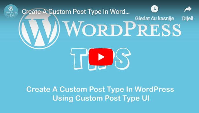 Create custom post tipe