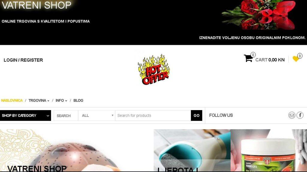 Vatreni shop - online trgovina